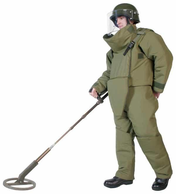 Mine clearance suit